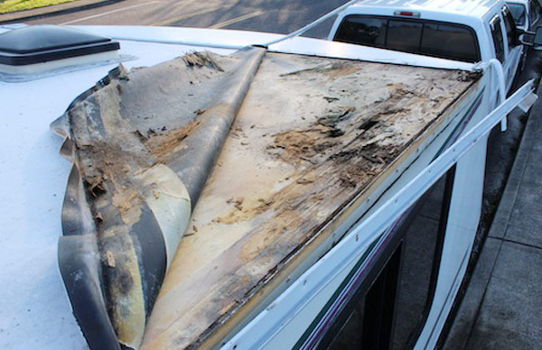 Rubber and Fiberglass RV Roof Replacements